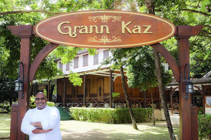 Vibrant creole menu at historic Grann Kaz restaurant