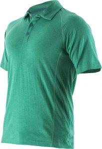 Mens Merino Polo shirt Emerald_invisible