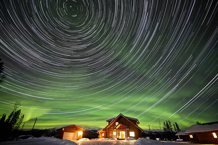 Northern Lights, camera, action in the Yukon